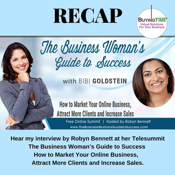 Robyn Bennett at her Telesummit The Business Woman's Guide to Success